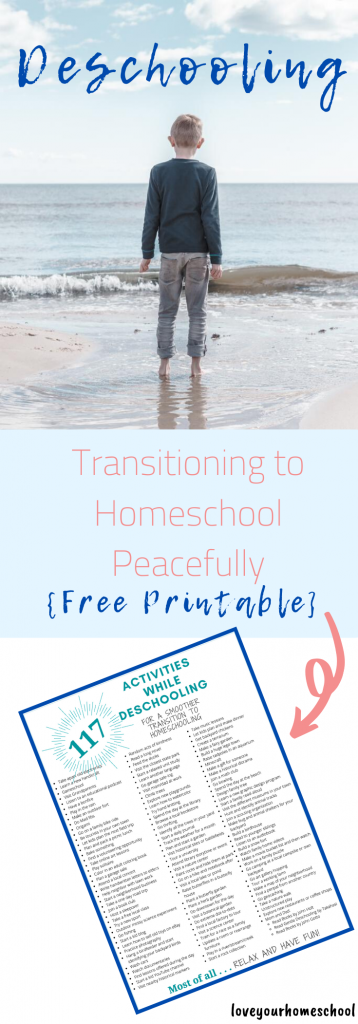 Ideas and Activities for Deschooling Free Printable